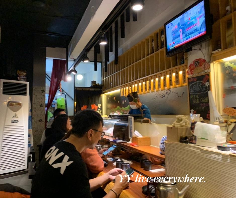 神奈川平價日式料理店內