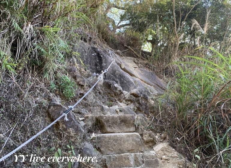 前往獵鷹尖一線天攀爬的路程